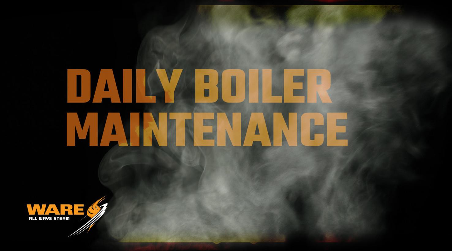 Daily Steam Boiler Maintenance in the Boiler Room